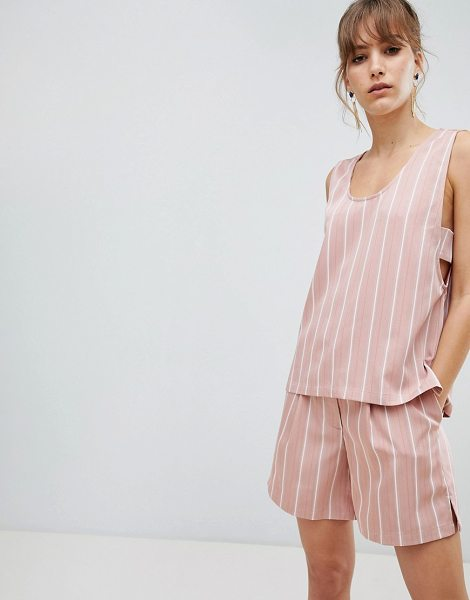 Selected femme stripe sleeveless top two-piece-pink in pink