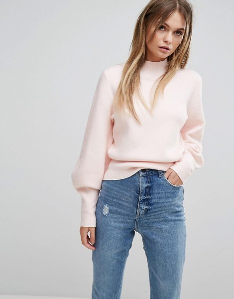 """Selected Long Sleeve Knit Sweater in heavenlypink - """"""""Sweater by Selected, Soft-touch knit, High neck,..."""