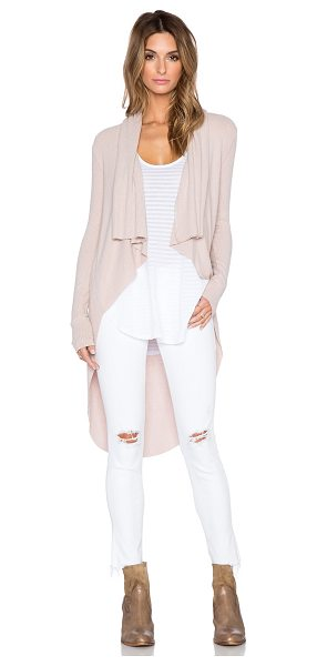 Sen Darasha cardigan in blush - Cotton blend. Hand wash cold. Open front. Rib knit...