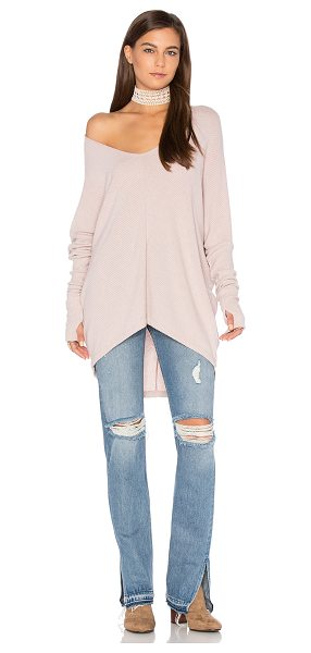 Sen Grace Top in blush - 62% modal 33% poly 5% rayon. Hand wash cold. Draped...