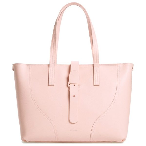 Senreve voya pebbled leather tote in blush - Clean lines underscore the minimalist design of an...