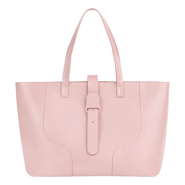 Senreve voya pebbled leather tote in sand - Clean lines underscore the minimalist design of an...