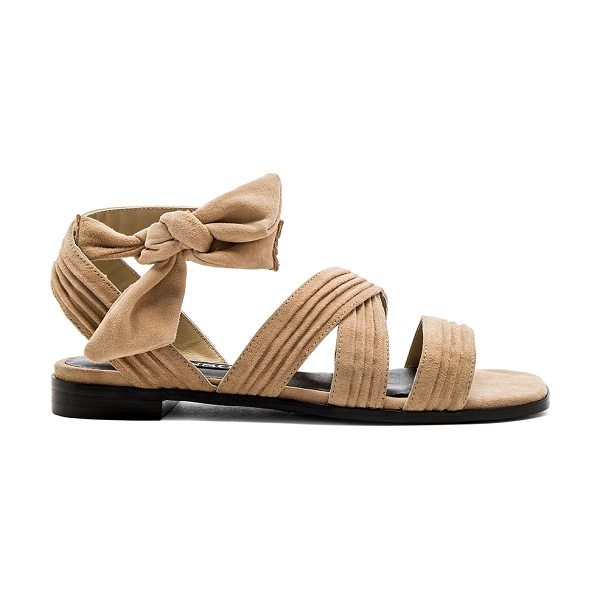 SENSO Haley Sandal - Suede upper with man made sole. Wrap ankle with tie...