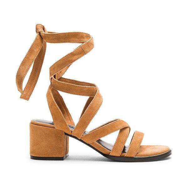 SENSO May Heel - Suede upper with rubber sole. Lace-up wrap with tie...