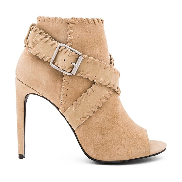SENSO Omei II Heel in tan - Suede upper with man made sole. Wrap ankle strap with...