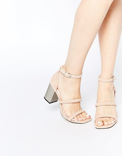 SENSO Robbie v blush suede block heeled sandals in nude - Sandals by Senso, Suede upper, Slim foot straps, Pin...