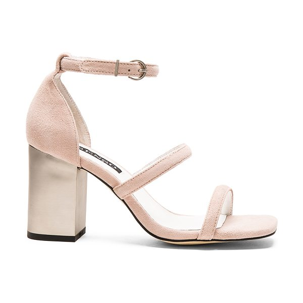 SENSO Robbie v heel in blush - Suede upper with man made sole. Ankle strap with buckle...