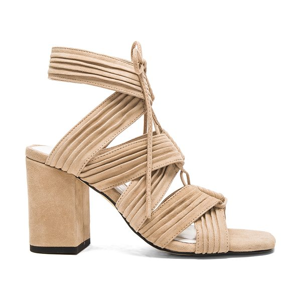 SENSO Rory heel in beige - Suede upper with man made sole. Lace-up front with tie...