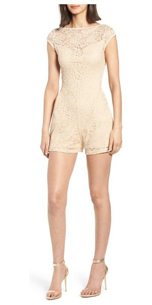 Sentimental NY lace romper in beige