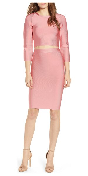 Sentimental NY two-piece body-con dress in coral
