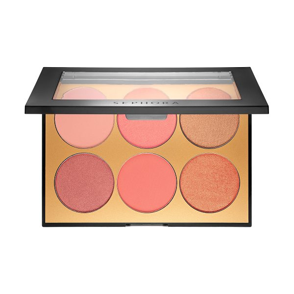 SEPHORA COLLECTION Contour Blush Palette 6 x - A pressed powder blush palette with six universally...