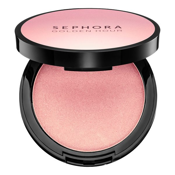 SEPHORA COLLECTION Golden Hour Luminizing Powder 01 Dusk - A highlighting powder with a soft, suede-like texture....
