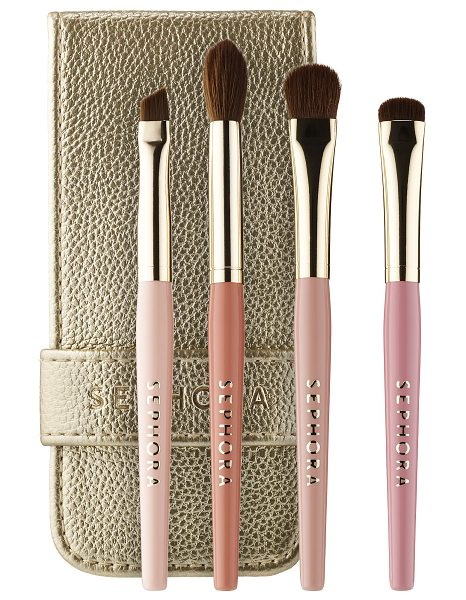SEPHORA COLLECTION Ready in 5 Eye Brush Set Neutral - An essential on-the-go eye brush set. This set of four...