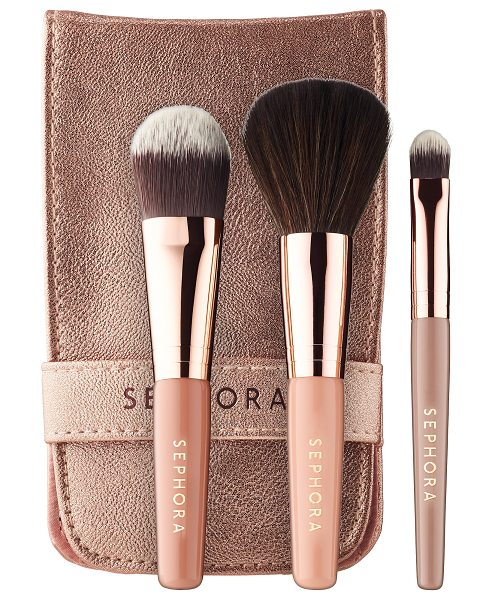 SEPHORA COLLECTION Ready in 5 Face Brush Set Neutral - An essential on-the-go complexion brush set. This set...