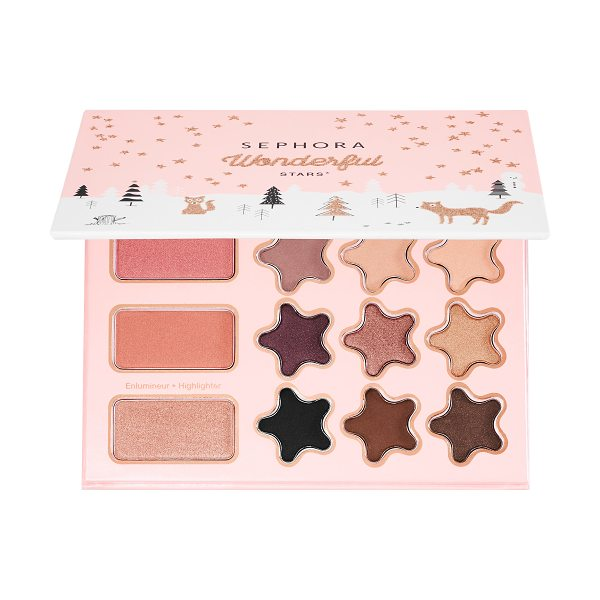 SEPHORA COLLECTION Wonderful Stars Eye and Face Palette 8 x - A palette for face and eyes with eyeshadows, blushes,...