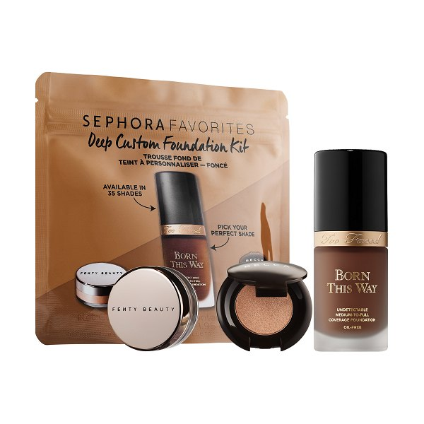 Sephora Favorites Deep Customizable Foundation Set with Too Faced Born This Way Foundation