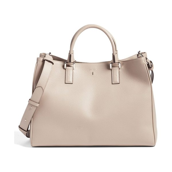 SERAPIAN MILANO lorelei cachemire tote in sahara - Roomy yet beautifully structured, this timeless tote is...