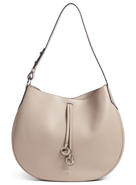 SERAPIAN MILANO maura cachemire shoulder bag in sahara - An exquisitely curvy shoulder bag is handcrafted from...