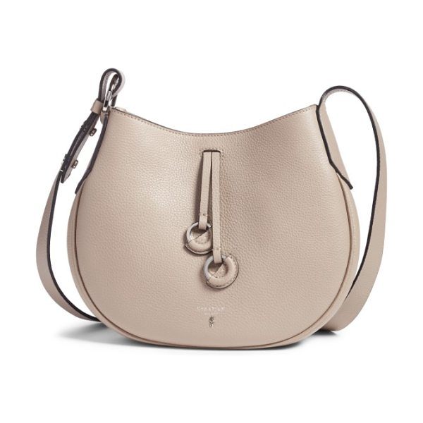 SERAPIAN MILANO small maura cachemire crossbody bag in sahara - An exquisitely curvy crossbody bag is handcrafted from...