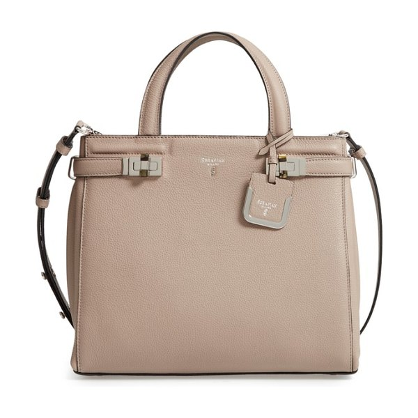 SERAPIAN MILANO small meline evolution leather bag in beige -