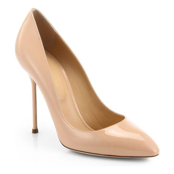Sergio Rossi Chi chi patent leather pumps in nude