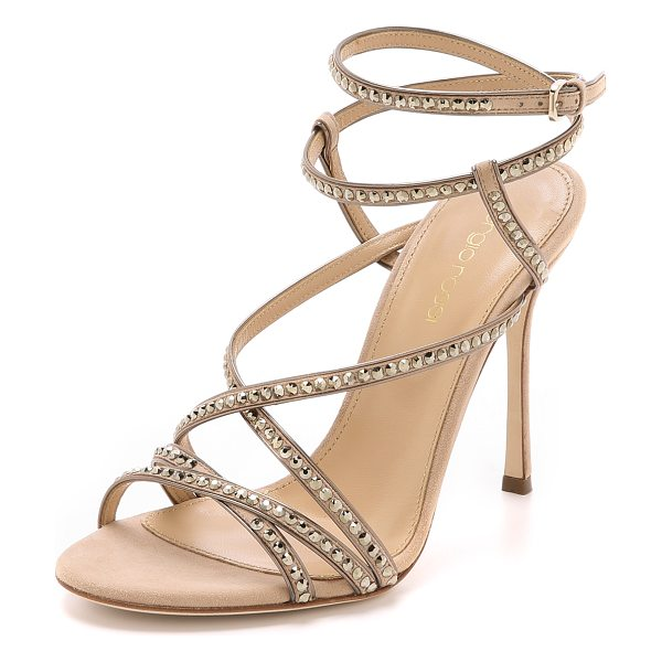 Sergio Rossi Crystal sandals in nude - Striking, Swarovski crystal studded Sergio Rossi sandals...