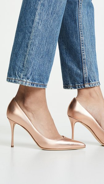 Sergio Rossi godiva pumps in oro rosa - Leather: Lambskin Pumps Stiletto heel Pointed toe...