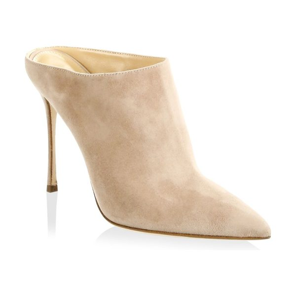 SERGIO ROSSI godiva suede mules - Step out in style with this suede mules. Stiletto heel,...