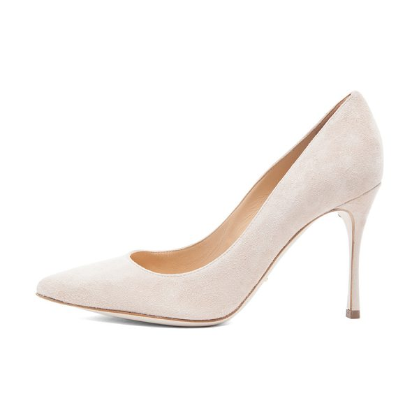 Sergio Rossi Godiva suede pumps in neutrals - Suede upper with leather sole.  Made in Italy.  Approx...