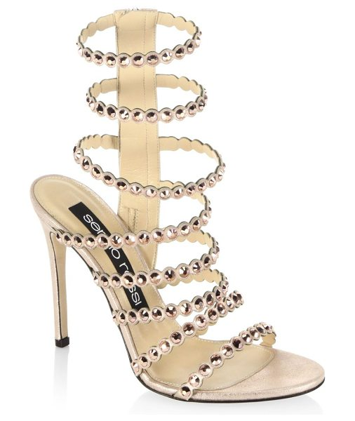 Sergio Rossi kimberly crystal gladiator sandals in champagne - From the Kimberly collections. Striking jewel details on...