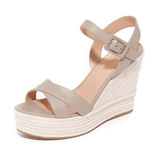 Sergio Rossi maui espadrille sandals in white elephant - Smooth leather Sergio Rossi platform sandals with a...