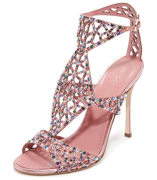 Sergio Rossi tresor sandals in baby rose - Glamorous Sergio Rossi sandals with glittering crystals...