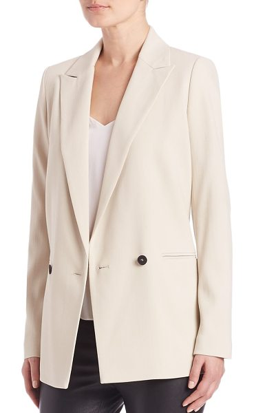 SET oyster double-breasted blazer - EXCLUSIVELY AT SAKS FIFTH AVENUE. Crisp blazer styled...
