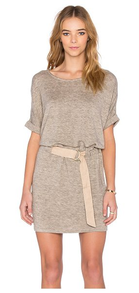 SHADES OF GREY BY MICAH COHEN Judo belt bag dress in beige - Shell: 80% acrylic 17% nylon 3% spandexTrim: 100% poly....
