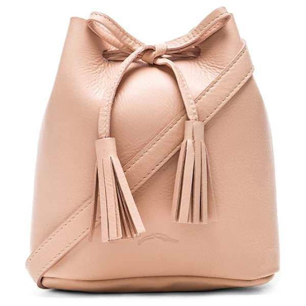 Shaffer The Greta Bucket Bag in blush - Leather exterior with suede lining. Measures approx 6 W...