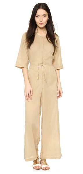 Shakuhachi Safari wide leg jumpsuit in khaki - Description NOTE: Sizes listed are Australian. Please...