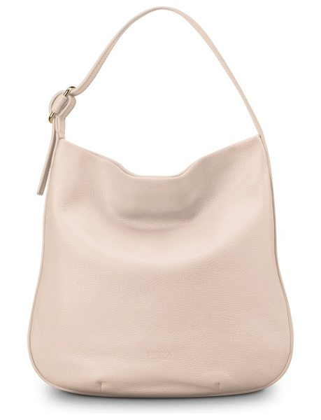 Shinola birdy grained leather hobo bag in soft blush - Finely grained leather offers understated sophistication...
