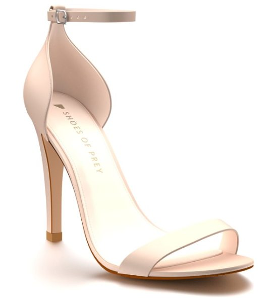 Shoes of Prey ankle strap sandal in blush nude silk - A sandal meant for dropping jaws with its simplicity,...