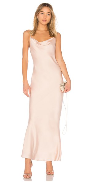 Shona Joy Calypso Cowl Slip Dress in blush - Self & Contrast: 100% poly. Hand wash cold. Fully lined....