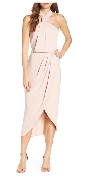 Shona Joy knotted tulip hem gown in pink