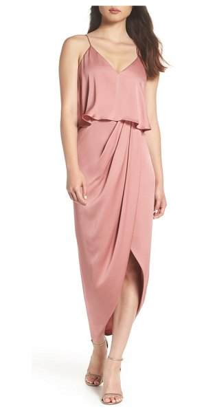 Shona Joy luxe frill tulip hem maxi dress in pink