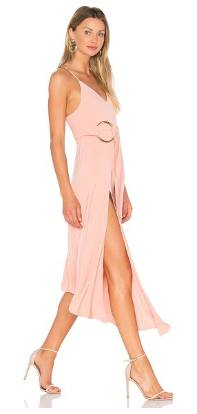 Shona Joy Zelda Dress With Ring in dusty pink - 100% poly. Hand wash cold. Partially lined. Adjustable...