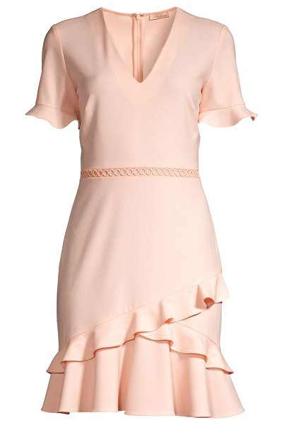 Shoshanna belleme ruffle dress in blush