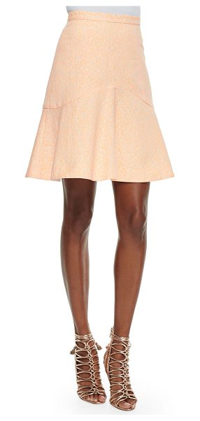Shoshanna Eden flounce-hem skirt in orange/cream