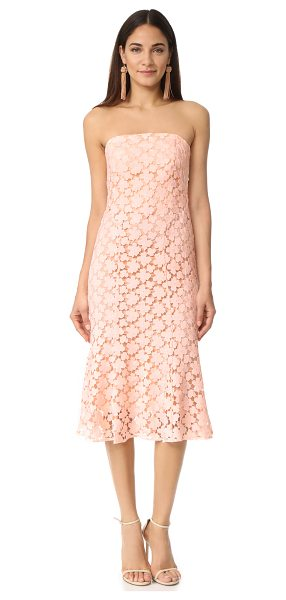 Shoshanna franklin midi dress in blush