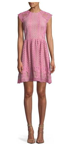 Shoshanna Mori Lace A-Line Mini Dress in pink