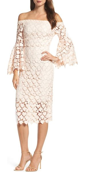 SHOSHANNA najlah lace off the shoulder dress - Crocheted daisies lighten the look of an...