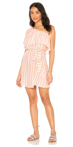 Shoshanna One Shoulder Dress in pink - 100% rayon. Dry clean only. Unlined. Elasticized...