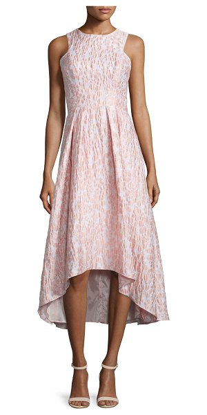 Shoshanna Sleeveless Printed High-Low Cocktail Dress in blush - Shoshanna printed stretch-knit dress. Approx. length:...