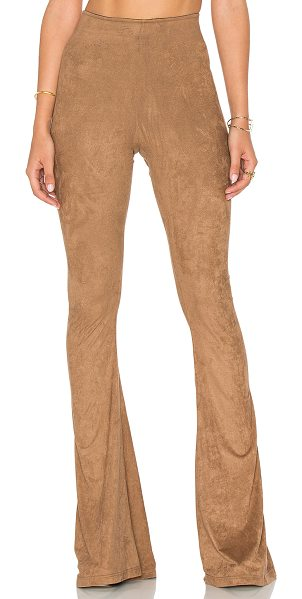 Show Me Your Mumu Bam Bam Bell Pants in brown - Polyamide blend. Dry clean only. Elastic waist. Faux...